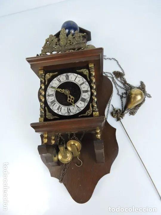 Relojes de pared: ANTIGUO RELOJ HOLANDES ZAANCE - Foto 3 - 199172148