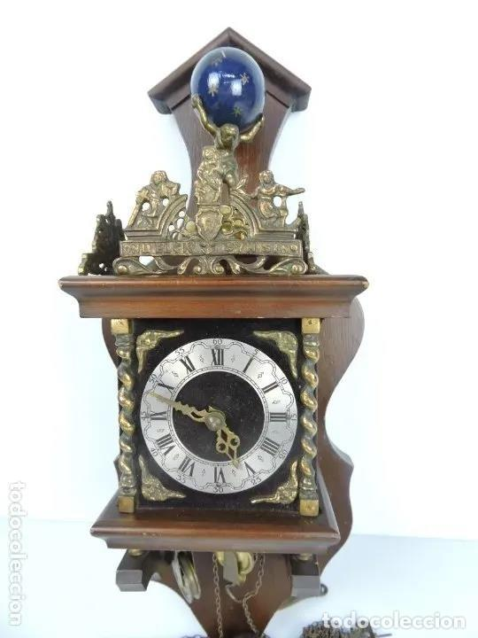 Relojes de pared: ANTIGUO RELOJ HOLANDES ZAANCE - Foto 7 - 199172148