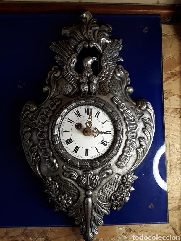 Relojes de pared: Reloj de pared,de cuerda,de metal,44x26cm - Foto 2 - 200010327