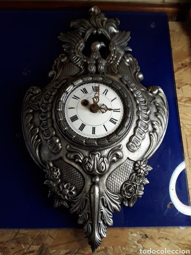 RELOJ DE PARED,DE CUERDA,DE METAL,44X26CM (Relojes - Pared Carga Manual)