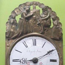 Relojes de pared: RELOJ MAQUINARIA MOREZ SIGLO XIX, FUNCIONA. Lote 200073510