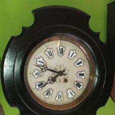 Relojes de pared: RELOJ DE PARED, ESFERA DE ALABASTRO, SIGLO XIX. Lote 200074280