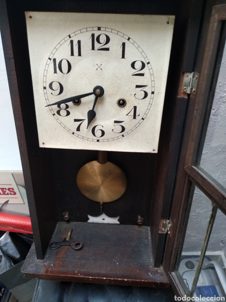 Relojes de pared: Reloj pared antiguo - Foto 3 - 200724556