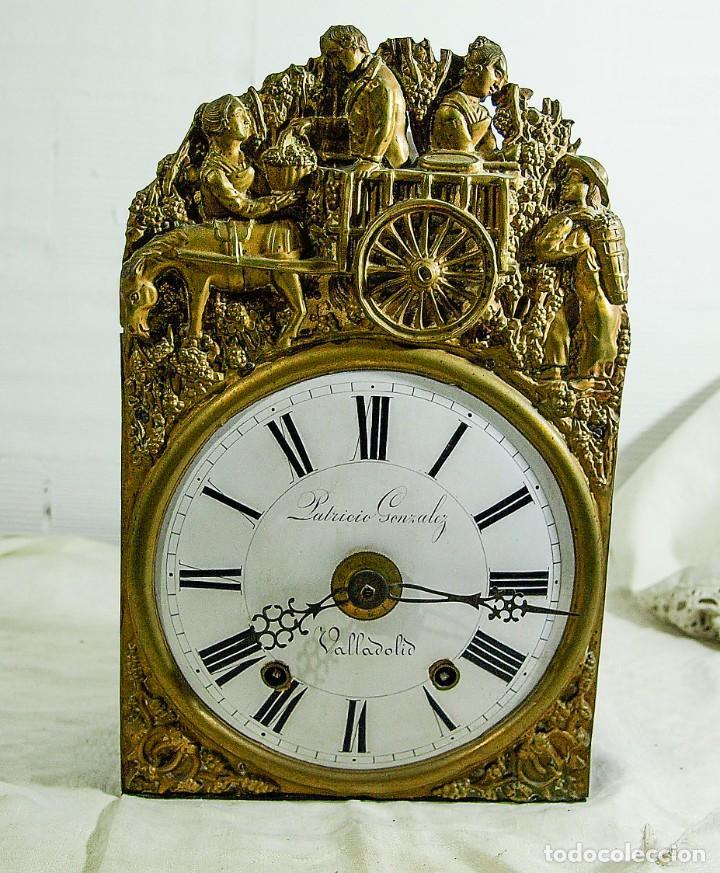 RELOJ MOREZ - PATRICIO GONZALEZ, VALLADOLID - SIGLO XIX, (Relojes - Pared Carga Manual)
