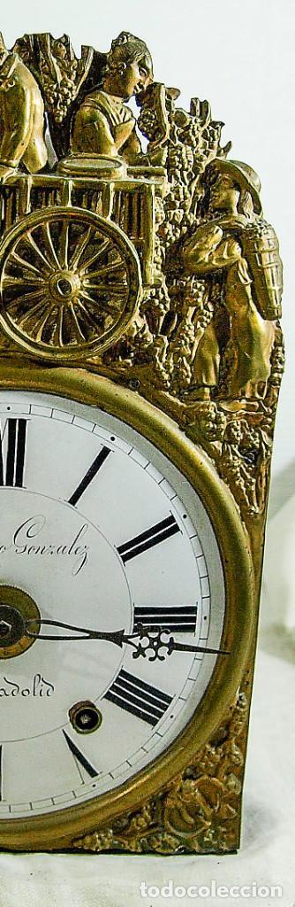 Relojes de pared: Reloj Morez - Patricio Gonzalez, Valladolid - Siglo XIX, - Foto 16 - 200805535