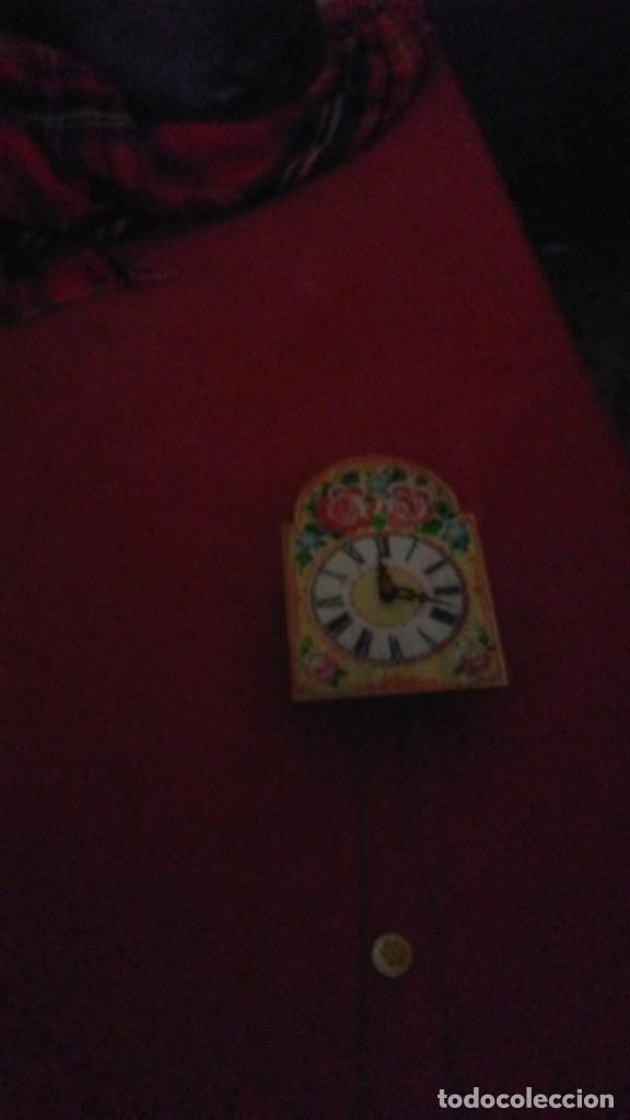 Relojes de pared: PRECIOSO DE MADERA PINTADA A MANO reloj de pared, colorido flores, 18,5 x 13 cm, con peso + péndulo - Foto 6 - 201200136