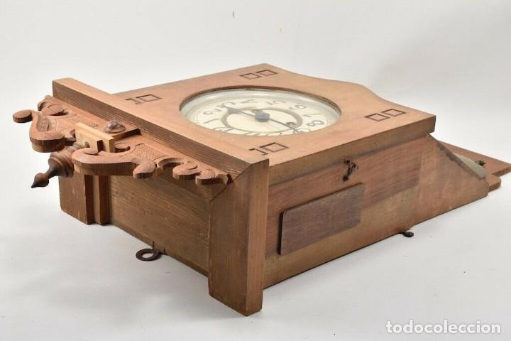 Relojes de pared: MARAVILLOSOI Y ANTIGUO RARO RELOJ PARED SALÓN AÑO 1900 SONERIA PERFECTO MEDIDAS 63x32x16 cm 530,00 € - Foto 2 - 201556341