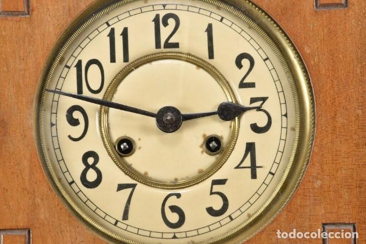 Relojes de pared: MARAVILLOSOI Y ANTIGUO RARO RELOJ PARED SALÓN AÑO 1900 SONERIA PERFECTO MEDIDAS 63x32x16 cm 530,00 € - Foto 13 - 201556341