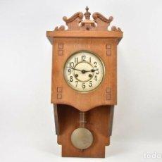 Relojes de pared: MARAVILLOSOI Y ANTIGUO RARO RELOJ PARED SALÓN AÑO 1900 SONERIA PERFECTO MEDIDAS 63X32X16 CM 530,00 €. Lote 201556341