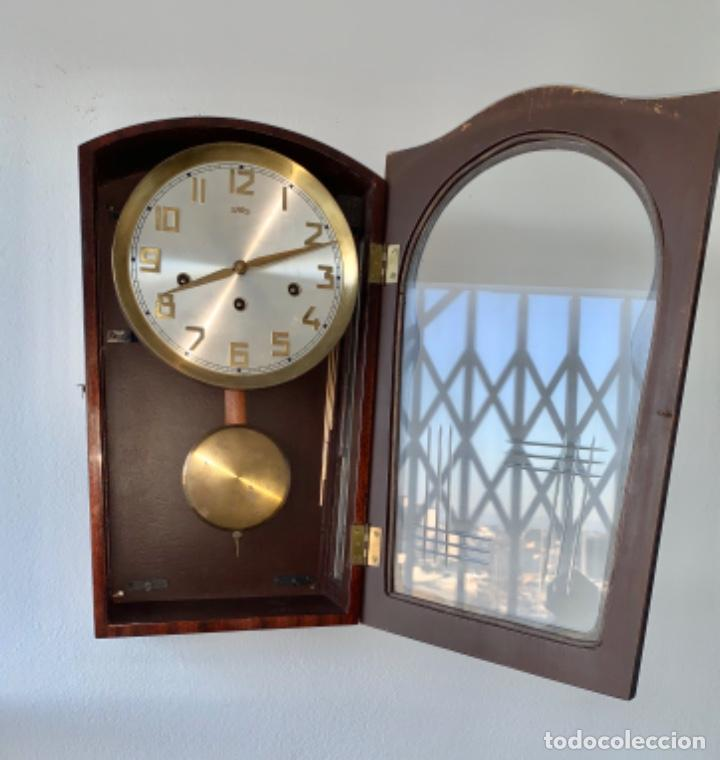 Relojes de pared: RELOJ AÑOS 50 , PERFECTO ESTADO CAJA Y MAQUINARIA MANUAL VINTAGE - Foto 4 - 191687891