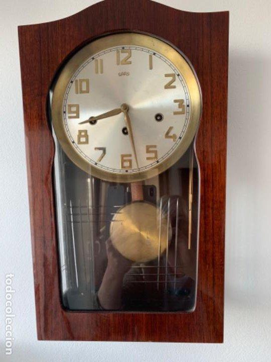 Relojes de pared: RELOJ AÑOS 50 , PERFECTO ESTADO CAJA Y MAQUINARIA MANUAL VINTAGE - Foto 5 - 191687891