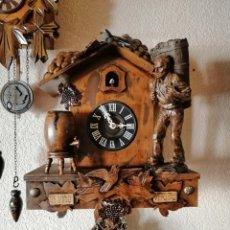 Relojes de pared: RELOJ CUCO 8 DIAS CUERDA ALEGORÍA A LA VENDIMIA. IN VINO VERITAS. FUNCIONANDO PERFECTO. Lote 195063425