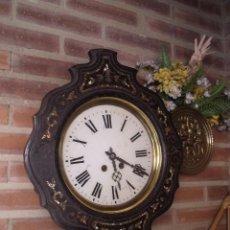 Relojes de pared: ¡¡GRAN OFERTA!! ANTIGUO RELOJ ESCUELA JAPY FRERES-AÑO 1880- FUNCIONA. Lote 203161451
