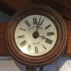 Relojes de pared: ANTIQUÍSIMO RELOJ RATERA SELVA NEGRA ALEMANIA-FUNCION DESPERTADOR- AÑO 1860-70-COMPLETO Y FUNCIONAL. Lote 203162780