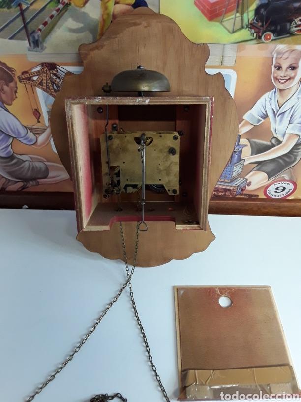 Relojes de pared: Reloj de pared en madera pintada a mano de principios de el siglo xx - Foto 5 - 203414123