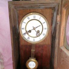 Relojes de pared: RELOJ SIGLO IXX MAQUINARIA PARÍS DE ROBLE. Lote 203891387