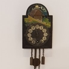 Relojes de pared: ANTIGUO MINI RELOJ RATERA ALEMANIA ALEMAN ORIGINAL DE EPOCA. Lote 204465081