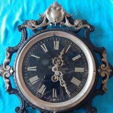 Relojes de pared: IMPRESIONANTE PERFECTO FUNCIONAMIENTO RELOJ FRANCÉS ÉPOCA IMPERIO PARIS. Lote 204818448