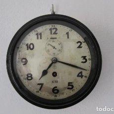 Relojes de pared: RELOJ DE PARED MILITAR ALEMÁN USO EN SALA DE RADIO DE CUARTELES BUNKER II SEGUNDA GUERRA MUNDIAL. Lote 204820925