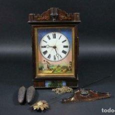 Relojes de pared: ANTIQUISIMO RELOJ RATERA- SELVA NEGRA- PASTORA CON CABRAS- ALEMANIA AÑO 1860-70- FUNCIONAL-LOTE 265. Lote 204827992