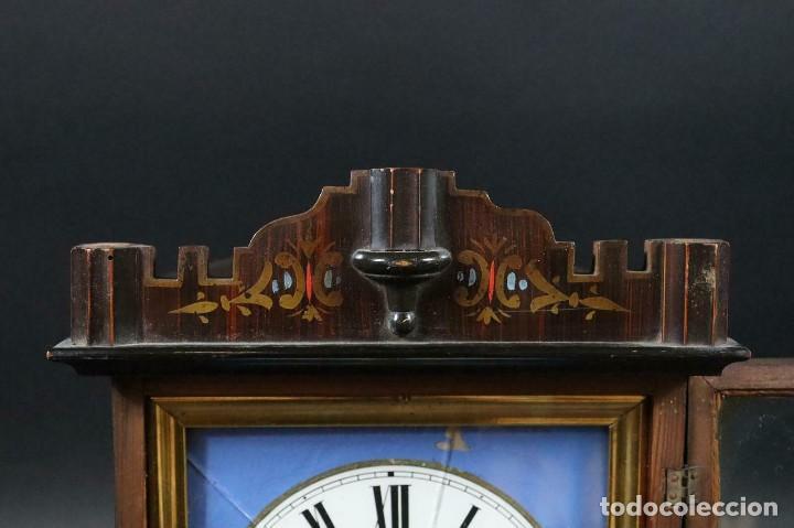 Relojes de pared: antiquisimo RELOJ RATERA- SELVA NEGRA- pastora con cabras- Alemania AÑO 1860-70- FUNCIONAL-LOTE 265 - Foto 2 - 204827992