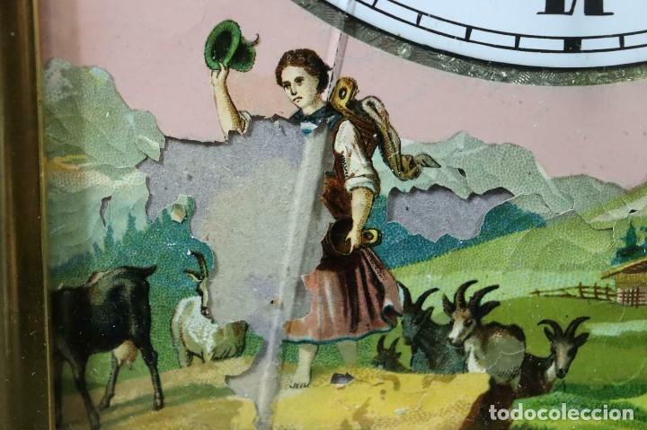 Relojes de pared: antiquisimo RELOJ RATERA- SELVA NEGRA- pastora con cabras- Alemania AÑO 1860-70- FUNCIONAL-LOTE 265 - Foto 4 - 204827992