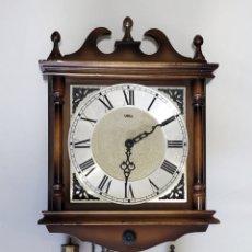 Orologi da parete: ANTIGUO RELOJ SARS, CARGA MANUAL CON SONREÍA. 40X30 CM.. Lote 205037653