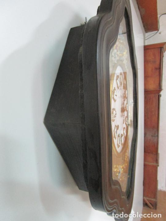 Relojes de pared: Bonito Reloj de Pared - Ojo de buey - Napoleón III, Francia - Completo - Funciona - S. XIX - Foto 3 - 205139417