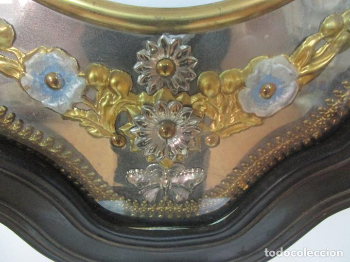 Relojes de pared: Bonito Reloj de Pared - Ojo de buey - Napoleón III, Francia - Completo - Funciona - S. XIX - Foto 6 - 205139417