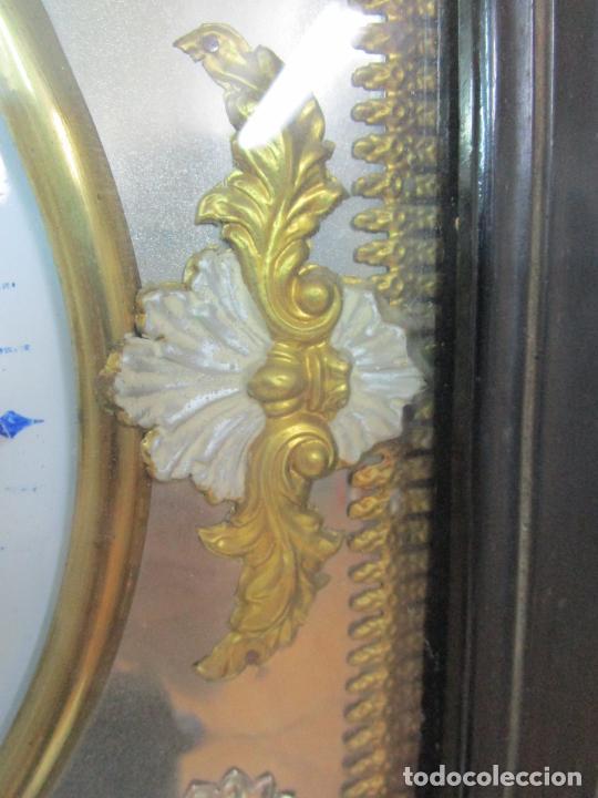 Relojes de pared: Bonito Reloj de Pared - Ojo de buey - Napoleón III, Francia - Completo - Funciona - S. XIX - Foto 7 - 205139417