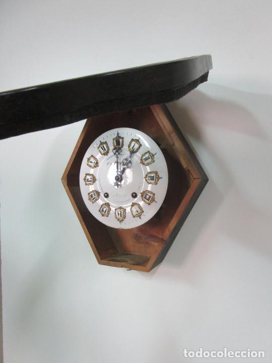 Relojes de pared: Bonito Reloj de Pared - Ojo de buey - Napoleón III, Francia - Completo - Funciona - S. XIX - Foto 9 - 205139417