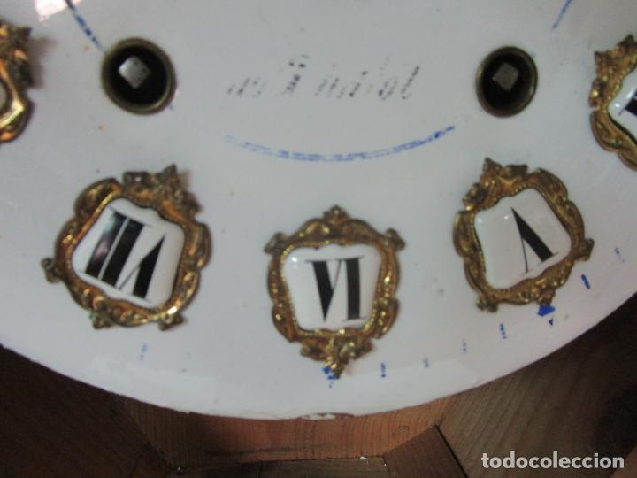 Relojes de pared: Bonito Reloj de Pared - Ojo de buey - Napoleón III, Francia - Completo - Funciona - S. XIX - Foto 11 - 205139417
