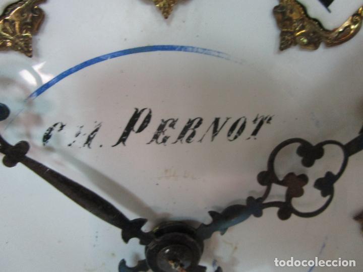 Relojes de pared: Bonito Reloj de Pared - Ojo de buey - Napoleón III, Francia - Completo - Funciona - S. XIX - Foto 13 - 205139417