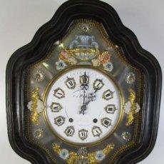 Relojes de pared: BONITO RELOJ DE PARED - OJO DE BUEY - NAPOLEÓN III, FRANCIA - COMPLETO - FUNCIONA - S. XIX. Lote 205139417