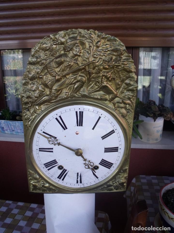 ANTIGUA MAQUINARIA MOREZ DE PESAS DE CAZA - PARA RESTAURAR O PIEZAS- FUNCIONAL AÑO 1870- LOTE 268 (Relojes - Pared Carga Manual)