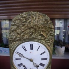 Relojes de pared: ANTIGUA MAQUINARIA MOREZ DE PESAS DE CAZA - PARA RESTAURAR O PIEZAS- FUNCIONAL AÑO 1870- LOTE 268. Lote 206274470