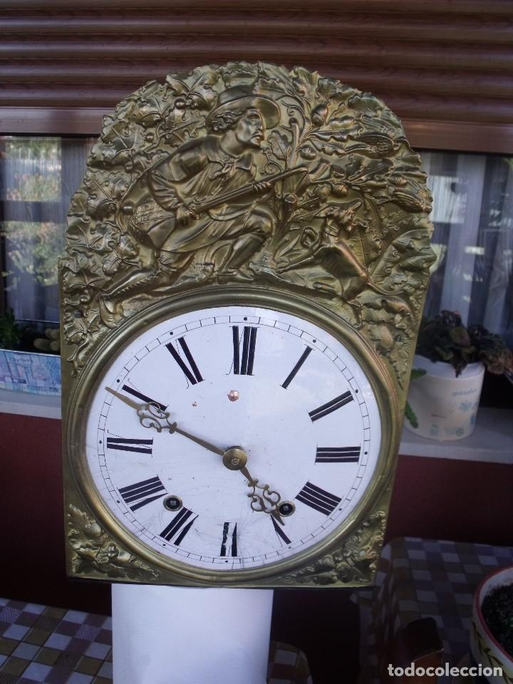 Relojes de pared: antigua maquinaria MOREZ de PESAS DE CAZA - para restaurar o piezas- funcional año 1870- LOTE 268 - Foto 2 - 206274470