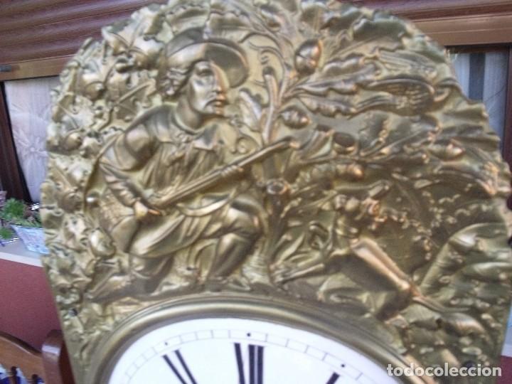 Relojes de pared: antigua maquinaria MOREZ de PESAS DE CAZA - para restaurar o piezas- funcional año 1870- LOTE 268 - Foto 3 - 206274470
