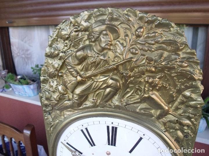 Relojes de pared: antigua maquinaria MOREZ de PESAS DE CAZA - para restaurar o piezas- funcional año 1870- LOTE 268 - Foto 4 - 206274470