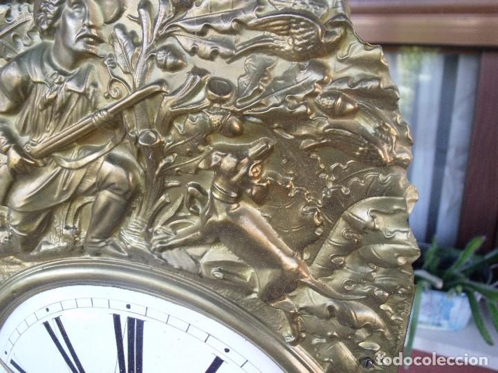 Relojes de pared: antigua maquinaria MOREZ de PESAS DE CAZA - para restaurar o piezas- funcional año 1870- LOTE 268 - Foto 5 - 206274470
