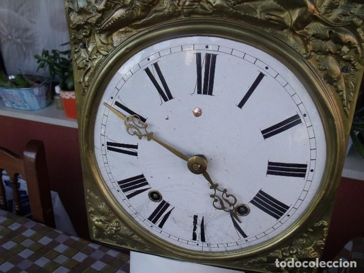 Relojes de pared: antigua maquinaria MOREZ de PESAS DE CAZA - para restaurar o piezas- funcional año 1870- LOTE 268 - Foto 7 - 206274470