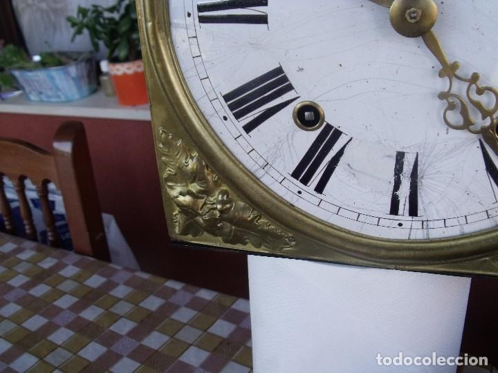 Relojes de pared: antigua maquinaria MOREZ de PESAS DE CAZA - para restaurar o piezas- funcional año 1870- LOTE 268 - Foto 8 - 206274470