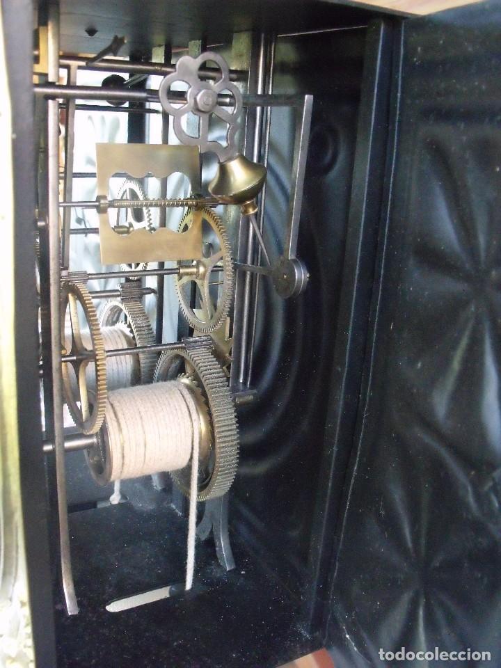 Relojes de pared: antigua maquinaria MOREZ de PESAS DE CAZA - para restaurar o piezas- funcional año 1870- LOTE 268 - Foto 11 - 206274470