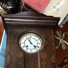 Relojes de pared: RELOJ DE PARED BARÓMETRO/TERMÓMETRO VFU UNIVERSAL GUSTAV BECKER.1906. . ALFONSINO. . ART DECO.. Lote 206385820