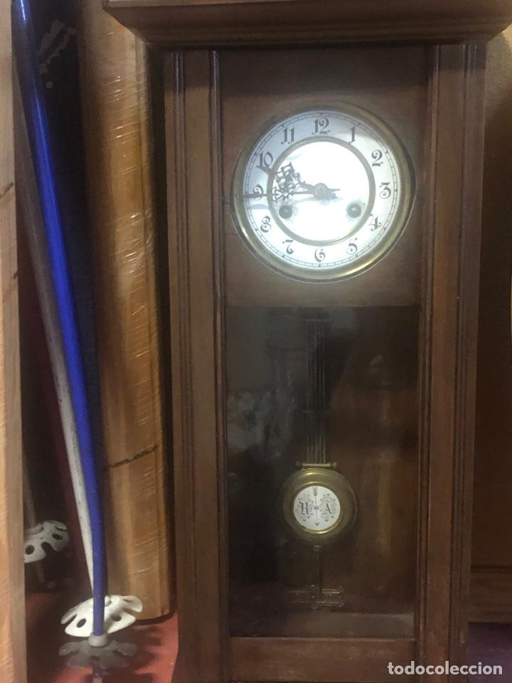 RELOJ DE PARED SIGLO XIX. (Relojes - Pared Carga Manual)