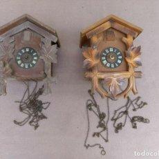 Relojes de pared: 2 ANTIGUOS CUCOS DE MADERA SELVA NEGRA DE ALEMANIA- LOTE 272. Lote 207136732
