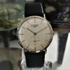 Relojes de pared: RELOJ ANTIGUO LONGINES DE CUERDA ULTRA DELGADO AÑO: 1956. Lote 207150655