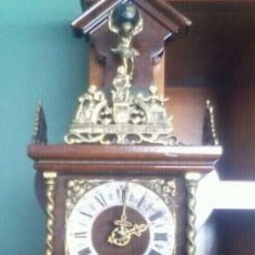 Relojes de pared: RELOJ PARED NU ELK SYNCK AUTENTICO..1 PESA GRANDE Y 1 PEQUEÑA CON CUÑO ORIGINAL.CUERDA 18 / 20 HORAS. Lote 207158237