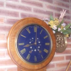 Relojes de pared: MUY ANTIGUO RELOJ INGLES EN ROBLE Y MARQUETERIA- AÑO 1880. Lote 207771085
