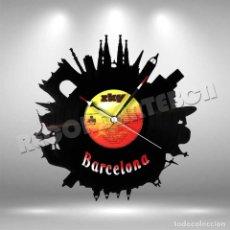 Relojes de pared: RELOJ DE DISCO DE VINILO CORTADO DE BARCELONA. Lote 208360388